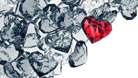 Krystaliczni serca Obrazy Royalty Free