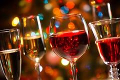Krystaliczni szkła wino Fotografia Stock