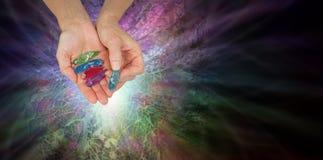 Krystaliczni uzdrowiciel ofiary zorzy Borealis kryształy zdjęcie royalty free