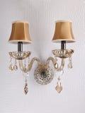 Krystaliczny ściennej lampy oświetlenie Obrazy Royalty Free