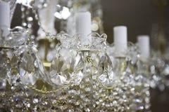 Krystaliczny świecznik zdjęcia stock