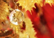 krystaliczny Boże Narodzenie ornament Zdjęcie Royalty Free