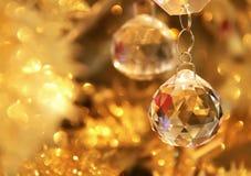 krystaliczny Boże Narodzenie ornament Obrazy Royalty Free