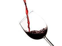 krystaliczny ciemnego szkła czerwone wino Obraz Royalty Free