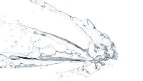 Krystaliczny czysty mały wodny pluśnięcie zdjęcie stock