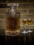 Krystaliczny dekantator whisky Fotografia Royalty Free