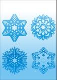 krystaliczny geometryczny lód target71_0_ kształtów płatków śniegów wektor Obraz Royalty Free