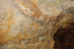 Krystaliczny jama kamień horyzontalny Zdjęcie Royalty Free
