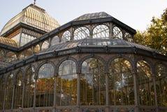 krystaliczny Madrid pałac parka retiro królewski s Fotografia Royalty Free
