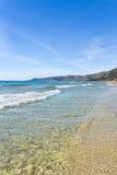 Krystaliczny morze Acciaroli w Salerno obraz stock