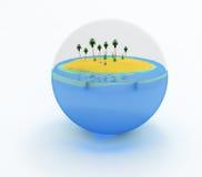 krystaliczny okrąg Fotografia Royalty Free