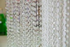 Krystaliczny ornamentu obwieszenie jako część ślubna dekoracja zdjęcia stock