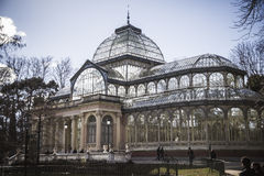 Krystaliczny pałac w Parque Del Retiro w Madr (Palacio De Cristal) Zdjęcie Royalty Free