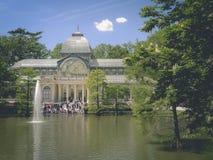 Krystaliczny pałac w Retiro parku Obrazy Royalty Free