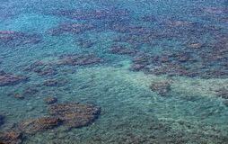 Krystaliczny seawater w Tajwan Fotografia Stock