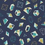 Krystaliczny serce - bezszwowy wzór Zdjęcie Stock