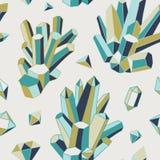 Krystaliczny serce - bezszwowy wzór Fotografia Royalty Free