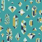 Krystaliczny serce - bezszwowy wzór Obraz Stock