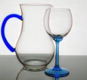 Krystaliczny szkło w przezroczystości Obraz Royalty Free