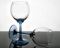 Krystaliczny szkło w przezroczystości Obrazy Stock
