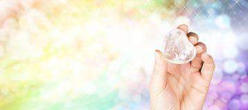 Krystaliczny uzdrowiciel strony internetowej sztandar Zdjęcie Royalty Free