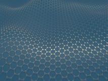 Krystalizujący węgla Heksagonalny system Obraz Stock