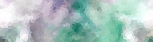 Krystalizujący chodnikowa sztandaru purpur turkus Fotografia Royalty Free