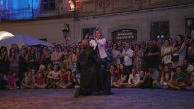 Krystian Minda Sword Swallower Show in Lublin Royalty-vrije Stock Foto