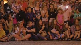 Krystian Minda Sword Swallower Show in Lublin Royalty-vrije Stock Afbeelding