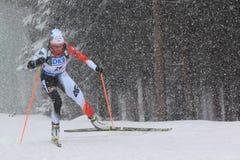 Krystyn Guzik - biathlon Fotografie Stock Libere da Diritti