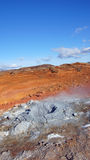 Krysuvik地热地区Seltun在冰岛 免版税库存照片