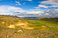 Krysuvik geothermal area landscape near hot springs Royalty Free Stock Image