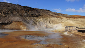 Krysuvik geothermal area Seltun in Iceland Royalty Free Stock Image