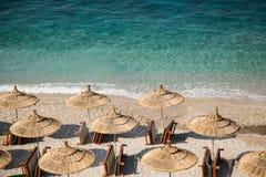 Kryształ woda Albański morze Fotografia Royalty Free