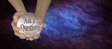 Kryształowa Kula seans Pyta pytanie ilustracja wektor