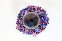 Kryształowej Kuli kuli ziemskiej klejnotu kamień Fotografia Stock