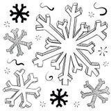kryształu płatek śniegu lodowy ilustracyjny Obrazy Royalty Free
