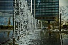 Kryształu wierza, drapacz chmur Madryt, umieszczający w pieniężnej strefie, f Zdjęcia Royalty Free