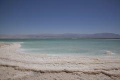 Kryształy sól w Nieżywym morzu Zdjęcie Royalty Free