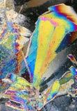 kryształy zamrażają tęczę zdjęcie stock