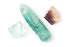 kryształów fluorytu kij Zdjęcia Royalty Free