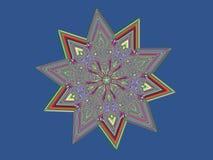 Kryształ gwiazda Obrazy Royalty Free
