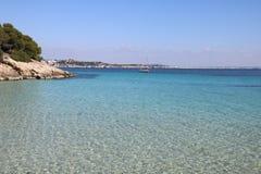 Kryształ - jasna woda na Mallorca zdjęcie stock