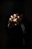 Kryształowa Kula atom Obrazy Stock
