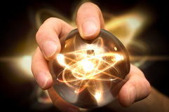 Kryształowa Kula atom Fotografia Royalty Free