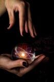 Kryształowa Kula atom Zdjęcia Stock
