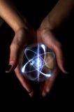 Kryształowa Kula atom Obraz Stock