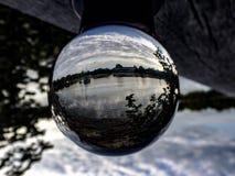 Kryształowa kula krajobraz Zdjęcia Stock