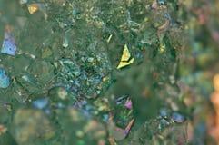 Kryształu agata SiO2 silikonowy dwutlenek Makro- Zdjęcia Stock