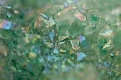 Kryształu agata SiO2 silikonowy dwutlenek Makro- Fotografia Stock